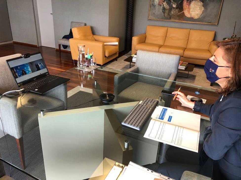 La reunión entre la conselleira de Medio Ambiente y el alcalde de Os Blancos se celebró por video conferenecia