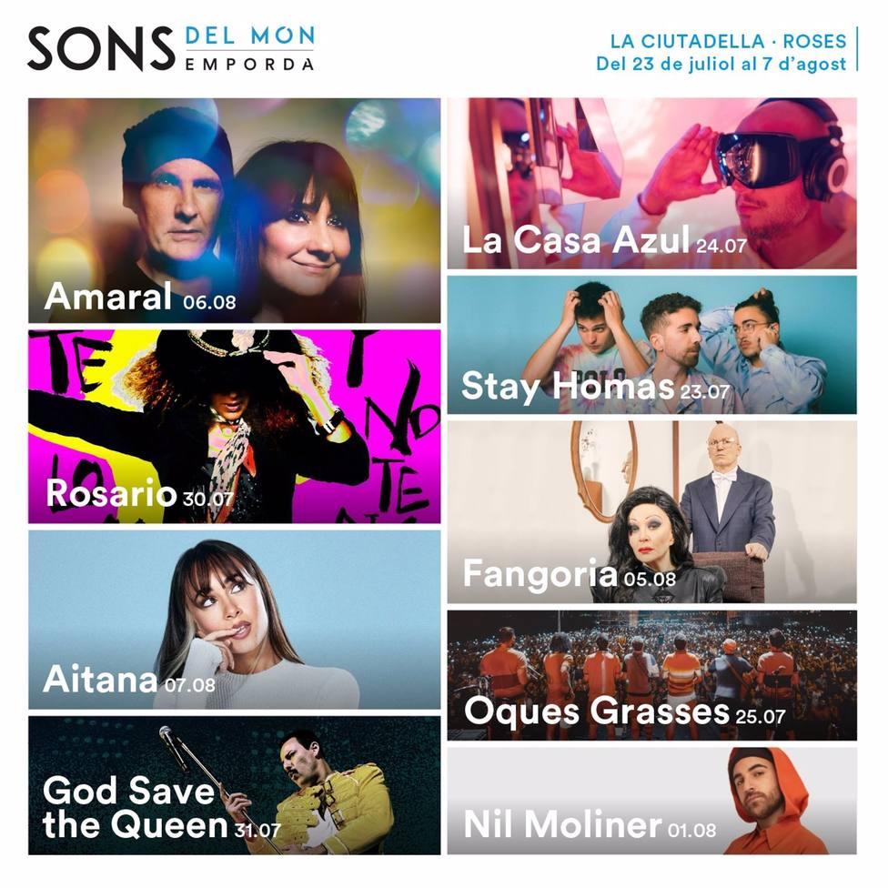 Cartel del Festival Sons del Món de Roses (Girona)