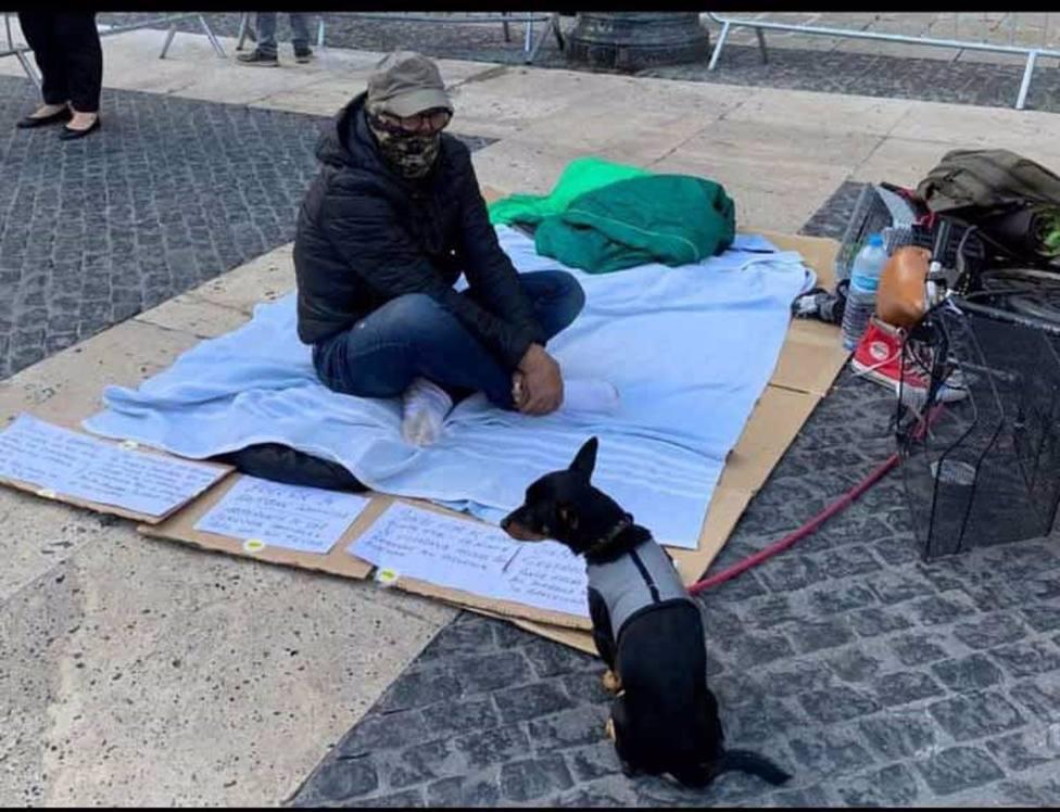 Daniel Cerdún, el hombre sin hogar que hizo huelga de hambre