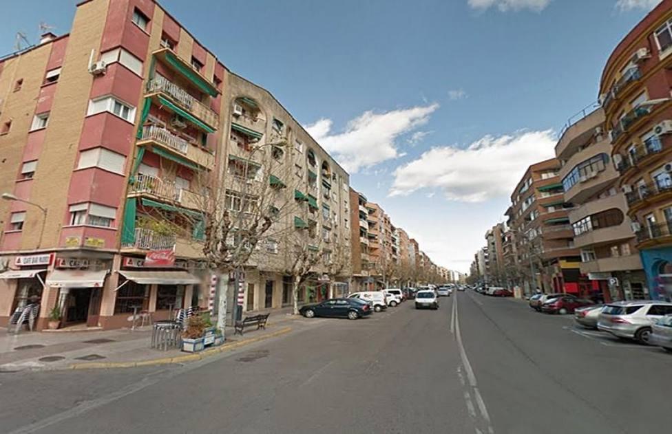 Avenida Ricardo Carapeto en Badajoz