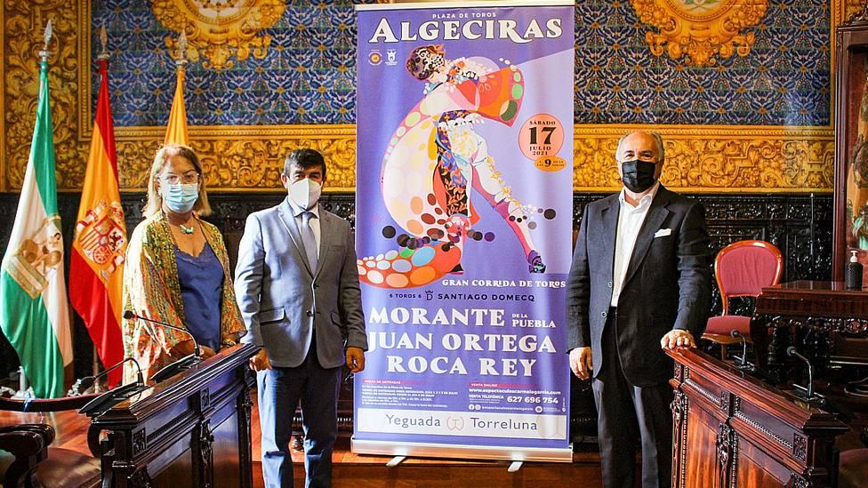 El empresario Carmelo García junto al alcalde de Algeciras, José Ignacio Landaluce