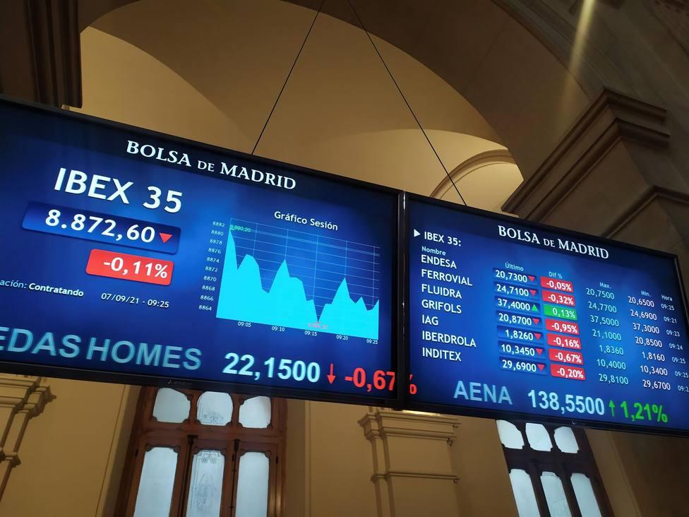 La bolsa española se ha inclinado por las pérdidas pocos minutos después de abrir en positivo