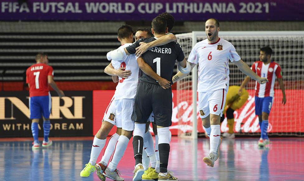 La selección española de fútbol sala comienza ganando en el Mundial (sefutbol)