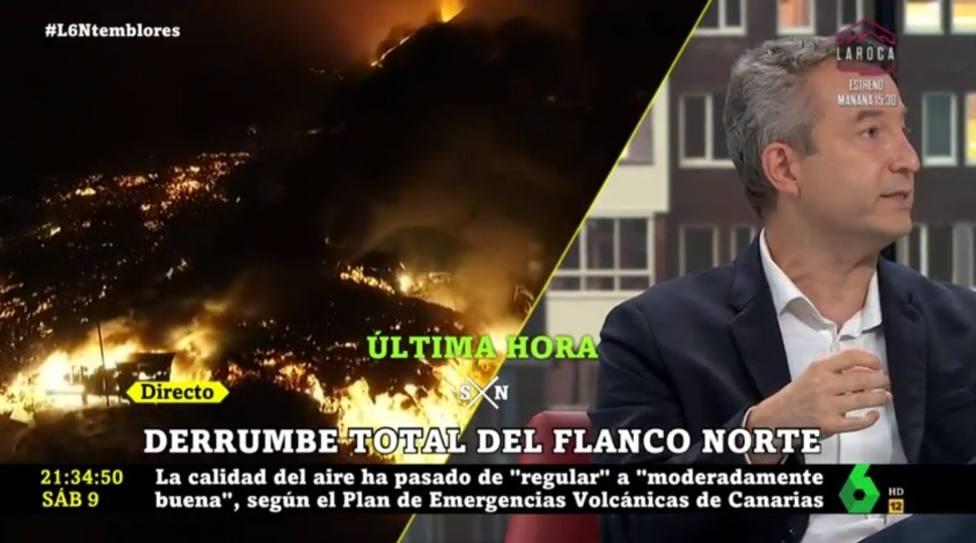 Carballo lanza un rotundo mensaje desde La Sexta Noche sobre la situación en La Palma: De momento
