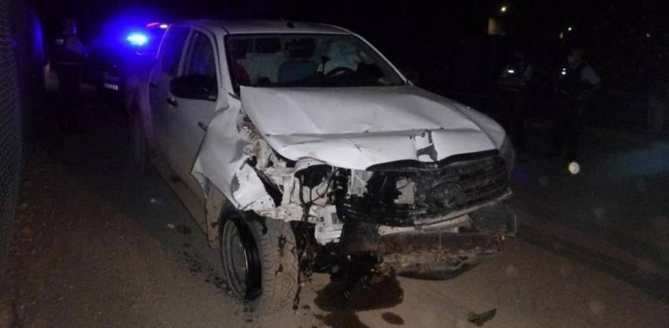 Imagen del coche que presuntamente causó la muerte de 2 motoristas en Lleida