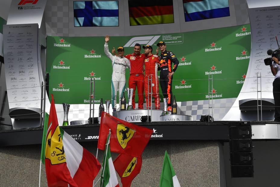 Podio GP Canadá