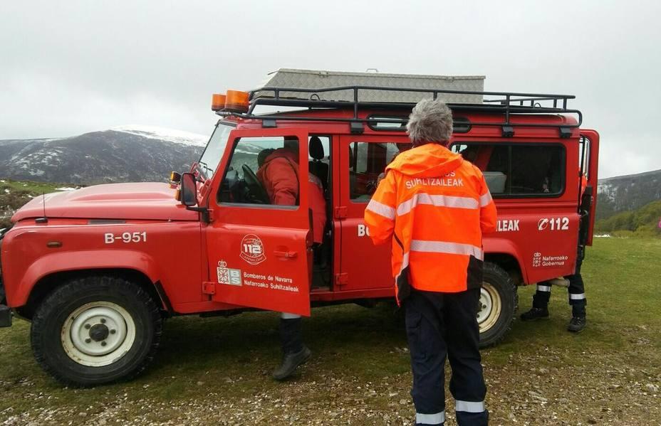 Rescatados ilesos un padre y dos hijos en el barranco de Zologorri (Navarra)