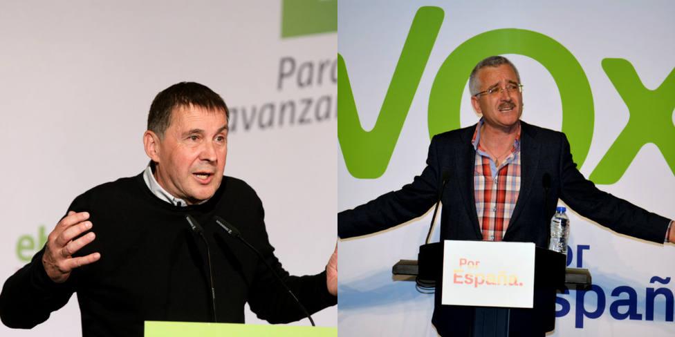 En Bildu hay secuestradores y en Vox secuestrados, el mensaje viral que compara a ambas formaciones