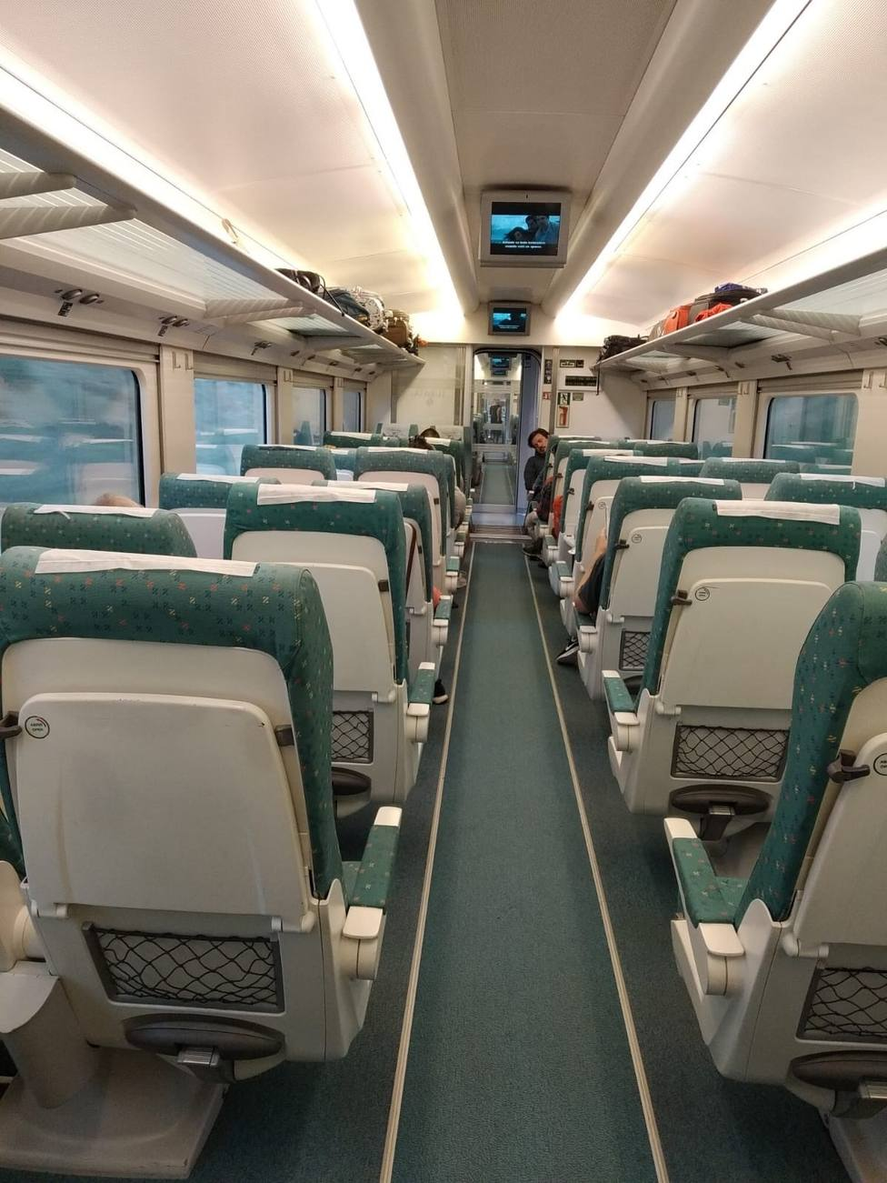 Interior de un tren ALVIA