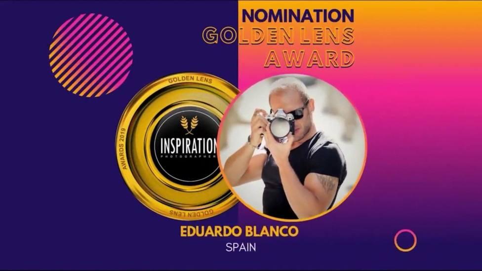 El aguileño Eduardo Blanco nominado a los premios internacionales Goldens Lens 2019