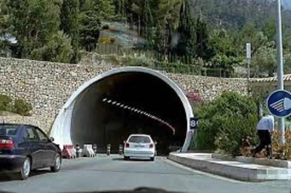El túnel de Sóller se cerrará 4 noches