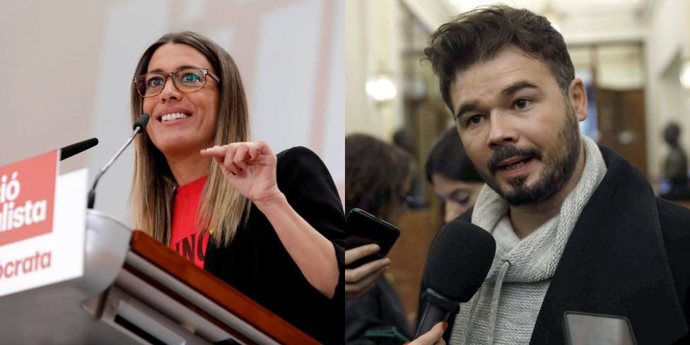 El rifirrafe entre Rufián y Míriam Nogueras a cuenta de Jordi Pujol y Pedro Sánchez