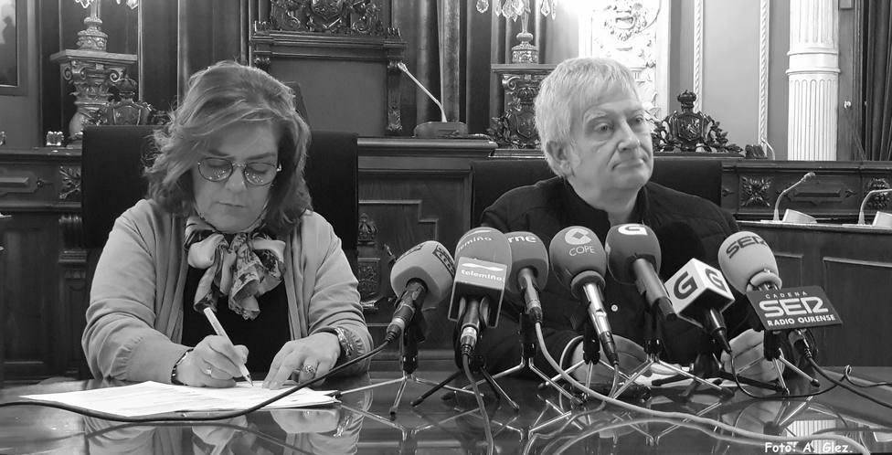 Flora Moure y Miguel Caride