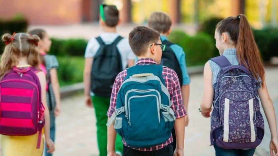 niños, colegio