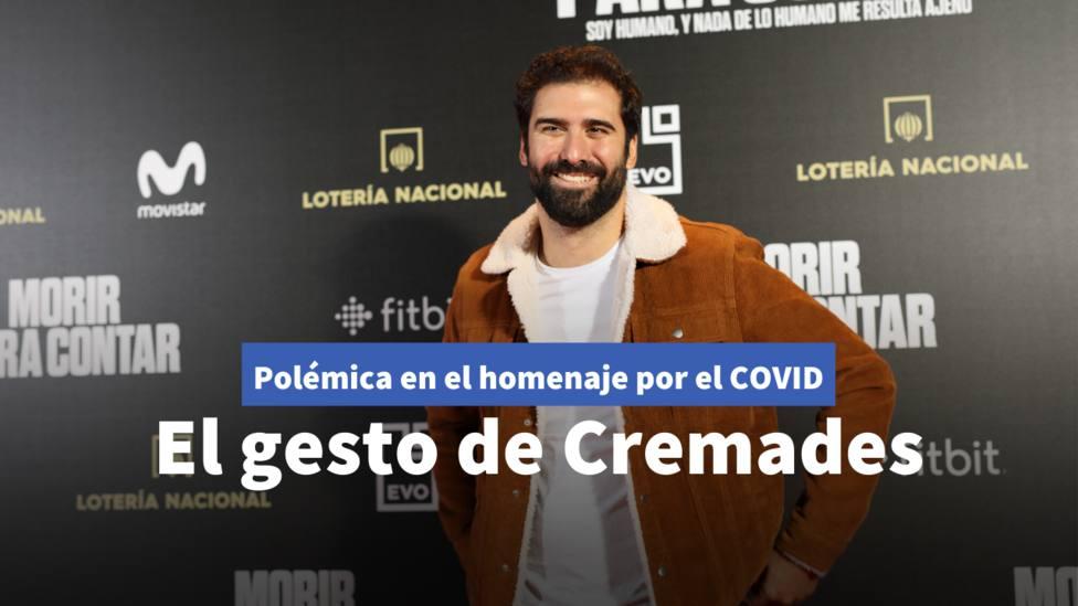 El gesto de Jorge Cremades en el homenaje de Estado a las víctimas del coronavirus que ha indignado a muchos
