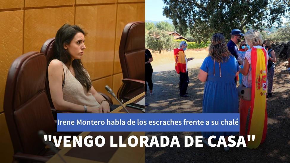 Irene Montero casi se derrumba al hablar de los escraches frente a su casa: Ya van por la semana 11