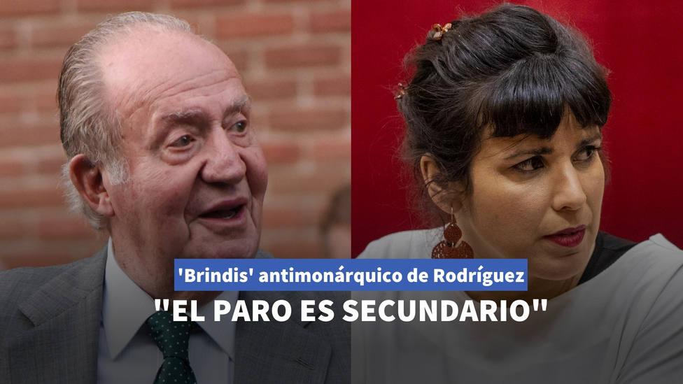 El brindis de Teresa Rodríguez contra la monarquía que no tarda en ser desmontado: El paro es secundario