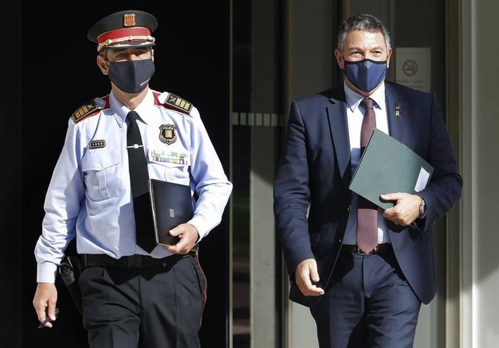 El mayor de los Mossos dEsquadra, Josep Lluís Trapero