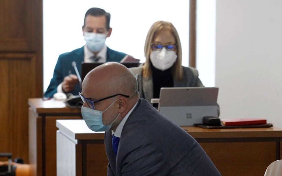 López Pérez, Coté, durante la primera sesión del juicio en A Coruña - FOTO: EFE / Kiko Delgados
