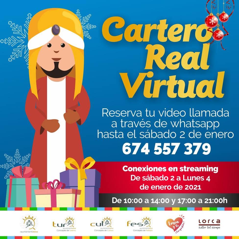 Los niños de Lorca podrán contactar por videollamada con el Cartero Real virtual hasta el 4 de enero