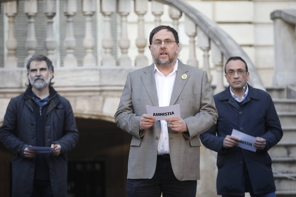 Los presos del procés reivindican una estrategia compartida en un acto unitario
