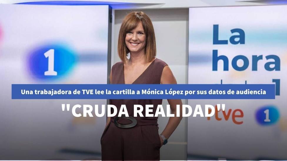Una trabajadora de TVE lee la cartilla a Mónica López por sus datos de audiencia: Cruda realidad