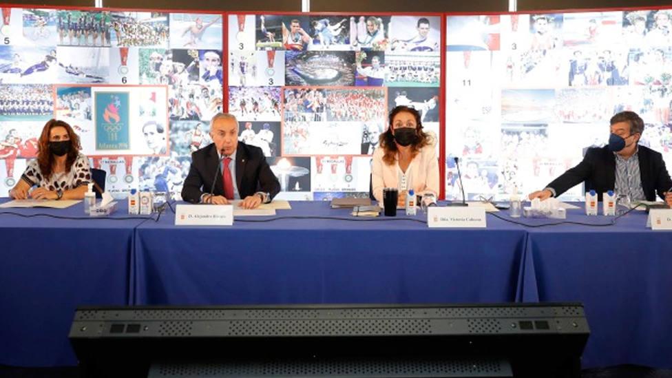 Alejandro Blanco preside la reunión en la que se dio a conocer el listado de olímpicos para Tokio 2020