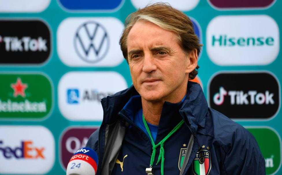 El seleccionador italiano Mancini, en la rueda de prensa previa a la final (EFE)