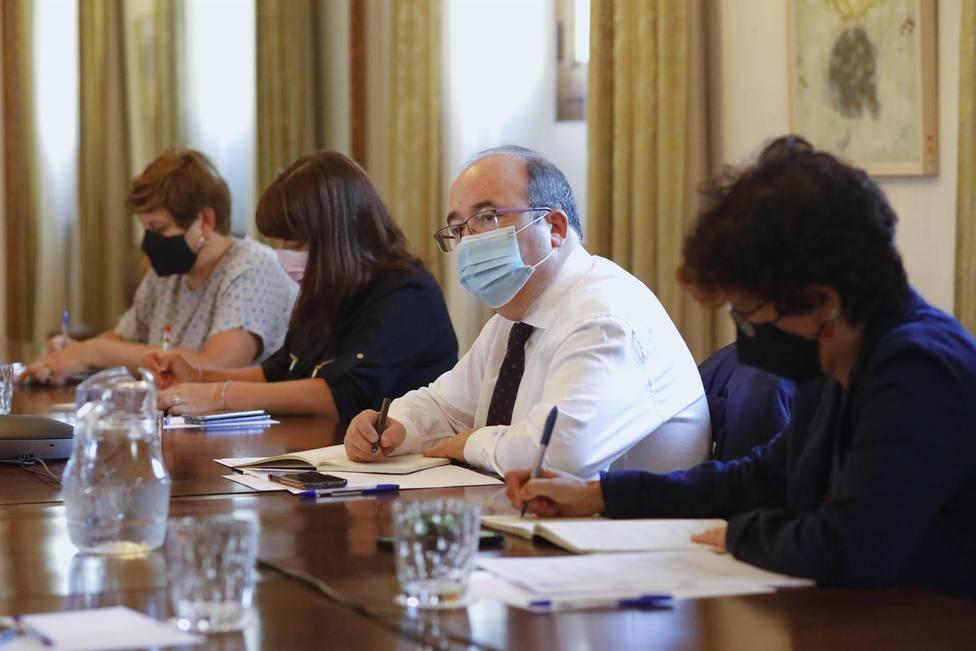 El ministro de Cultura y Deporte, Miquel Iceta, durante una reunión en la sede del Ministerio
