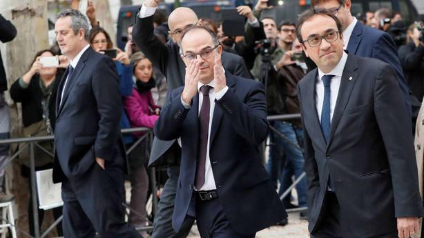 Llegada Junqueras a la Audiencia Nacional