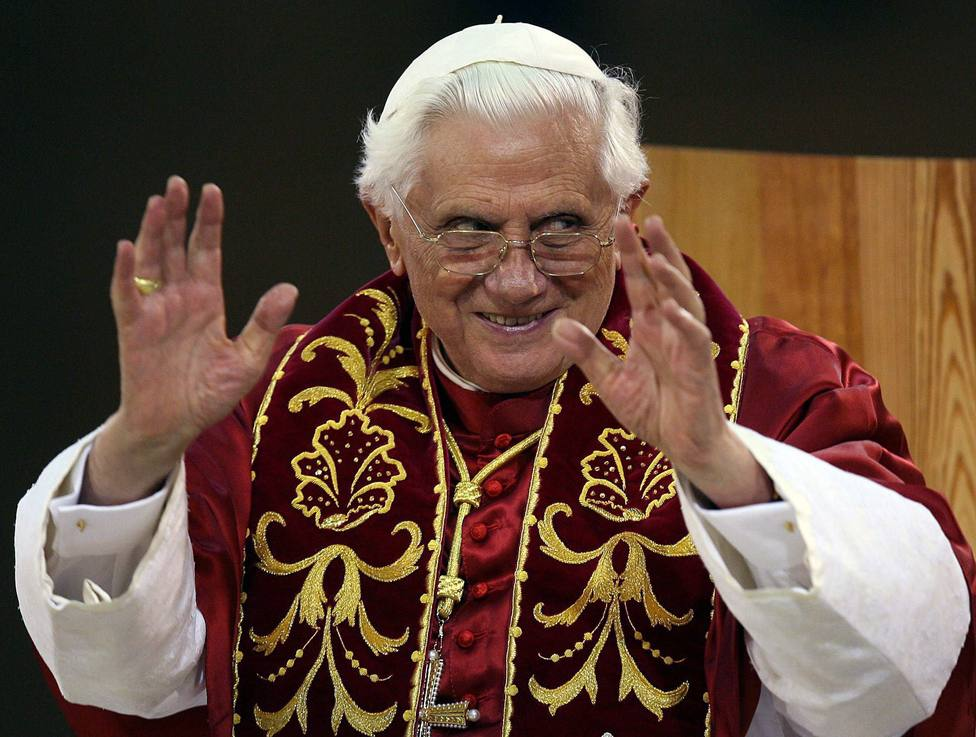 La imagen del Papa Benedicto XVI seis años después de su renuncia