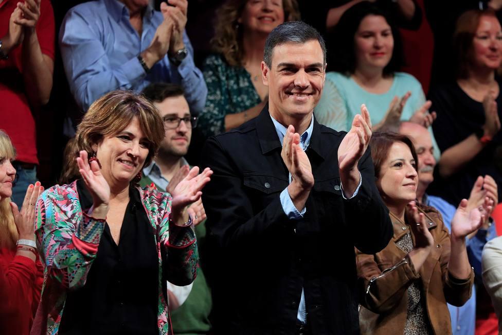 Acto electoral del presidente del gobierno Pedro Sánchez