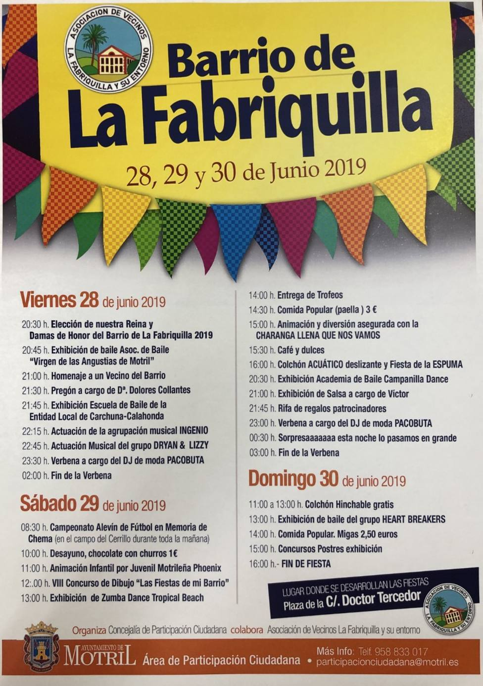 Fiestas en la Fabriquilla