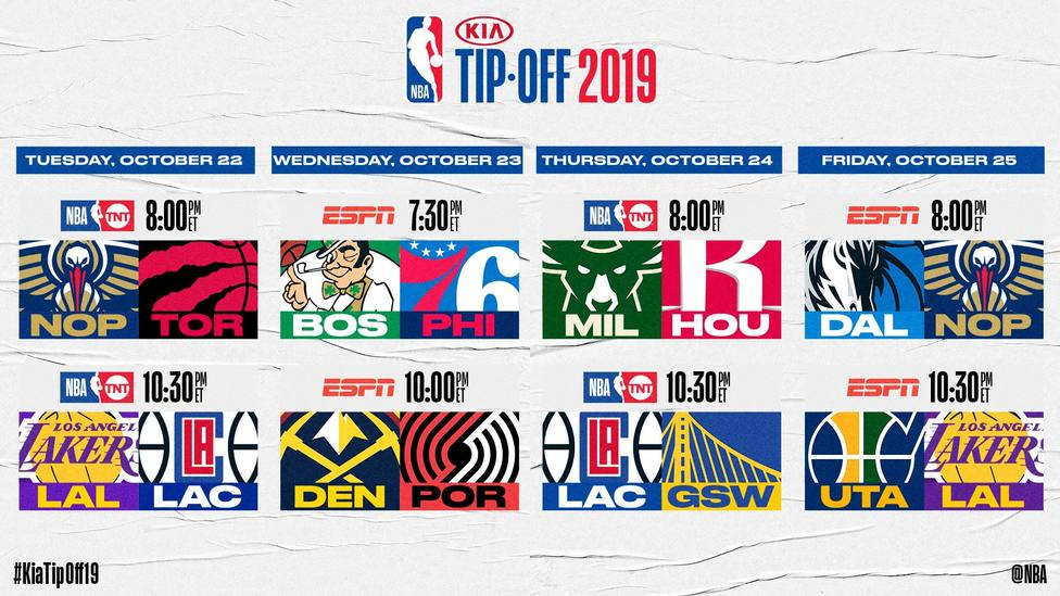 El derbi angelino y el estreno de Williamson ante los campeones Raptors abrirán la temporada en la NBA