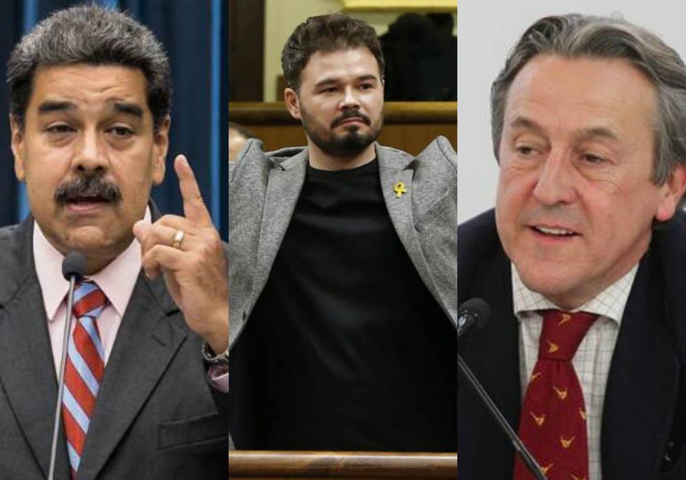 El dato con el que Hermann Tertsch deja K.O a Rufián por esta reflexión sobre la Venezuela de Maduro