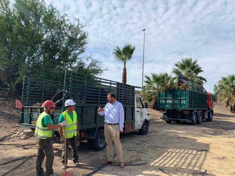 El Ayuntamiento arregla todos los accesos de entrada a Murcia desde la A30 y Ronda Oeste