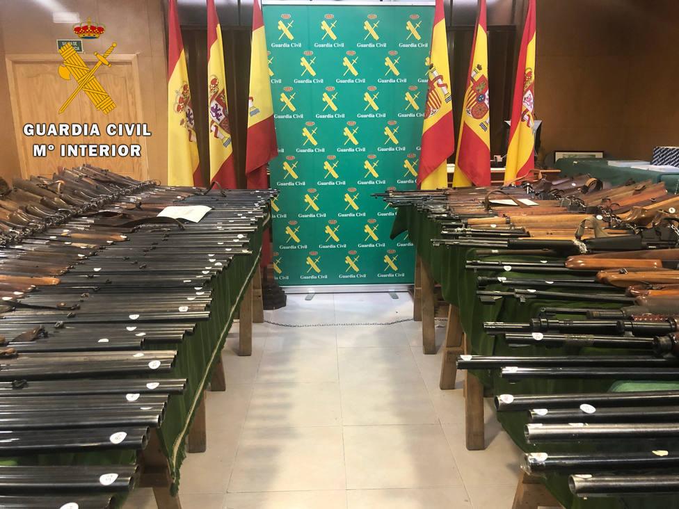 Subasta armas Guardia Civil Ávila