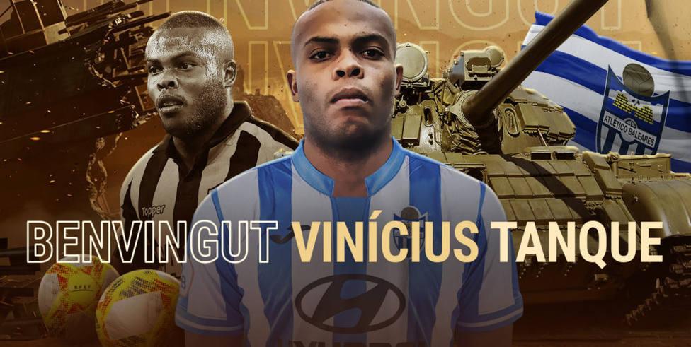 Cartel anunciando el fichaje de Vinicius Tanque