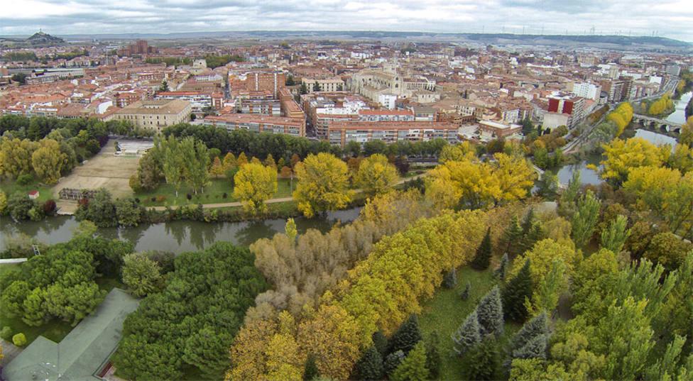 Vista aerea de Palencia