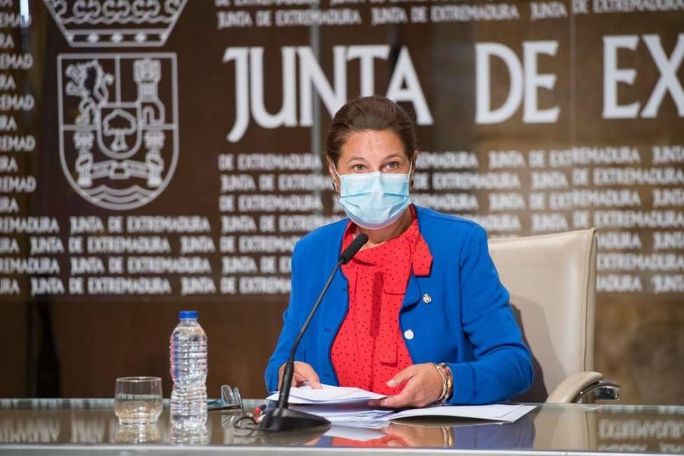 Pilar Blanco Morales en rueda de prensa (archivo)