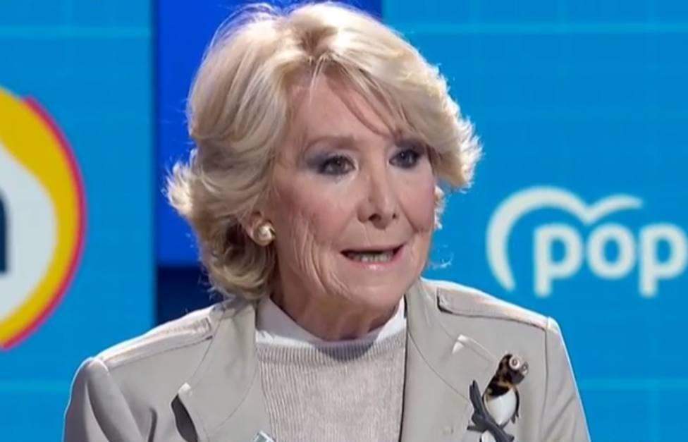 Esperanza Aguirre en La Hora de La 1 (TVE)