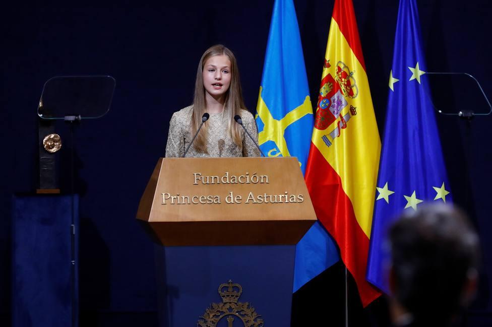 La princesa Leonor: Cuando intentamos ser responsables y solidarios, nos aseguramos un futuro mejor