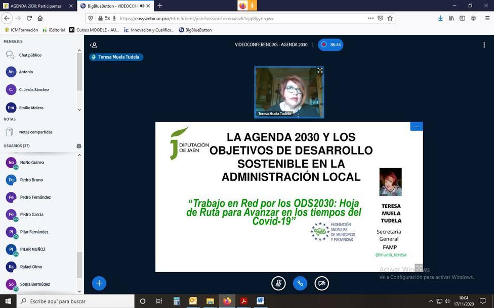 La FAMP participa en una jornada sobre Desarrollo Sostenible y Agenda 2030 de la Diputación de Jaén