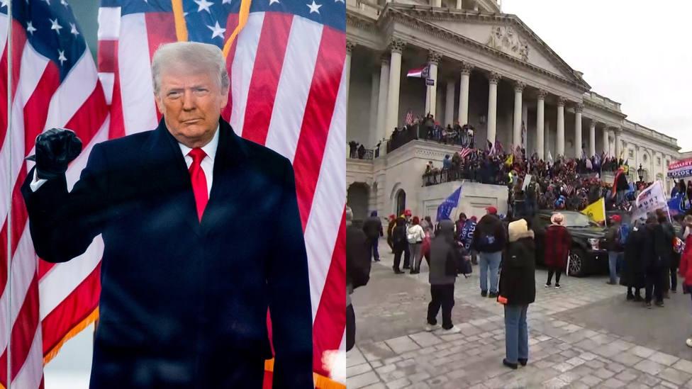 Trump pide a sus seguidores que se mantengan pacíficos tras la irrupción de manifestantes en el Capitolio