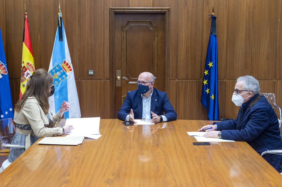 Montse Lama, Manuel Baltar y Plácido Álvarez