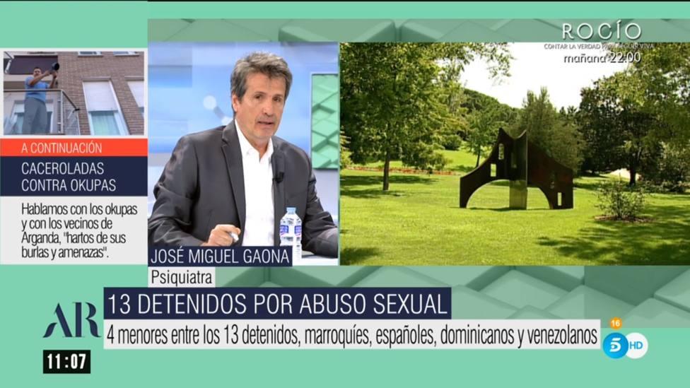 El doctor Gaona avisa a Ana Rosa por los 13 detenidos por abuso sexual: Si quieren integrarse...