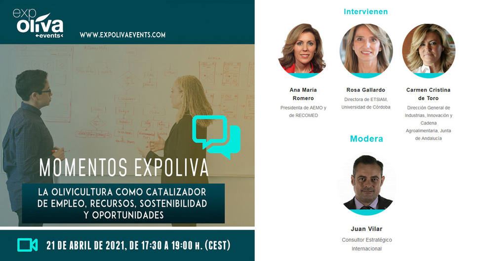 Más de 200 profesionales de 15 países participan en el Diálogo Expoliva online