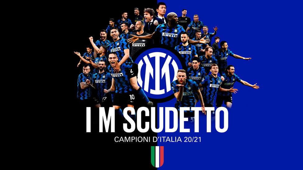 Inter de Milán, campeones del Scudetto de la temporada 2020-2021