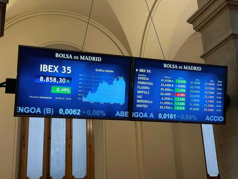 La Bolsa española inicia la semana con una leve subida del 0,07 %