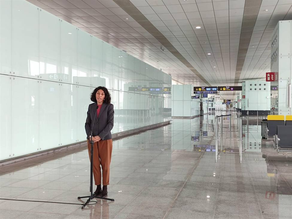 La directora del Aeropuerto de Barcelona, Sonia Corrochano - EUROPA PRESS